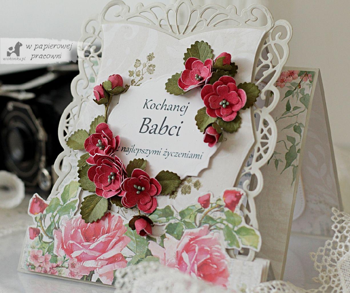 Nostalgiczna kartka z okazji Dnia Babci