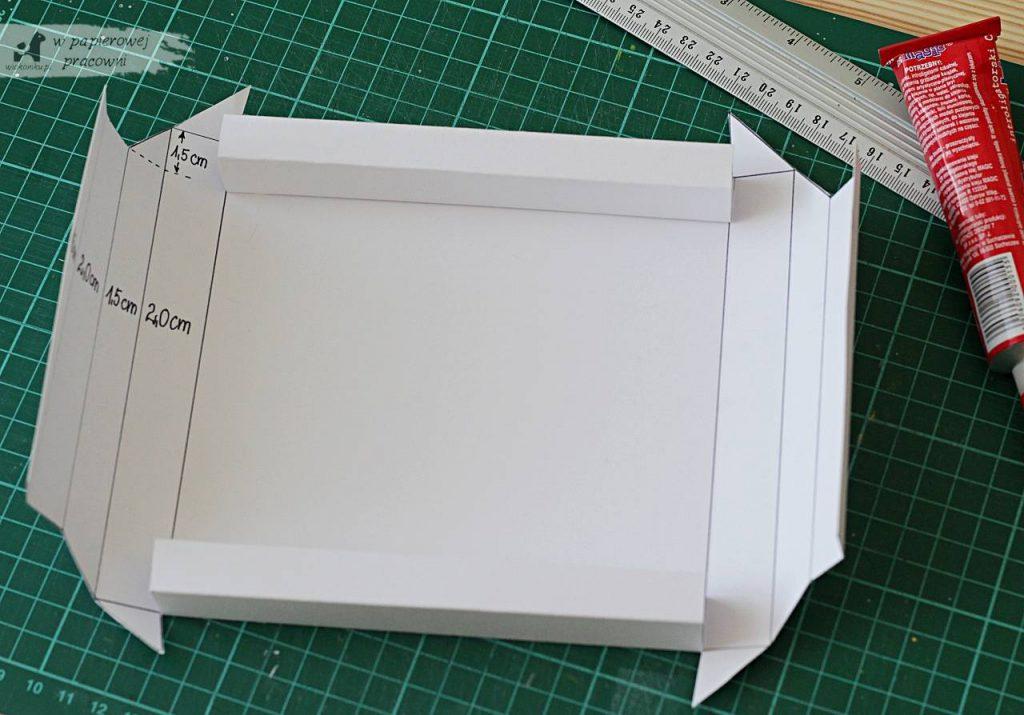 Kartka z ramką 3D - kurs krok po kroku- szablon