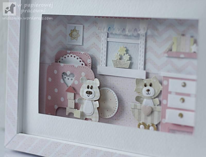 obrazek z ramką 3D dla dziewczynki