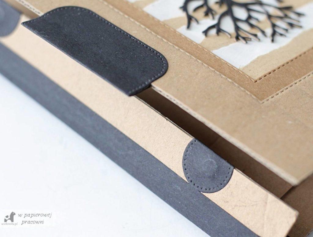 zero waste - zbliżenie okładki na listwę zamykającą