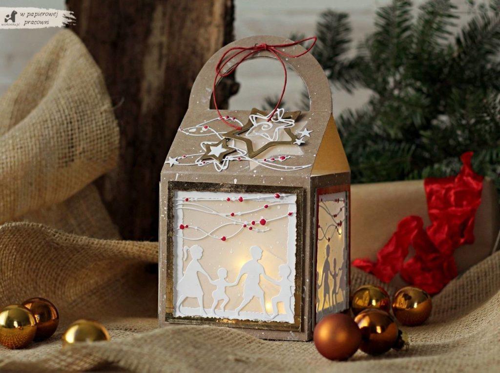 Świąteczny lampionik jako dekoracja bożonarodzeniowa