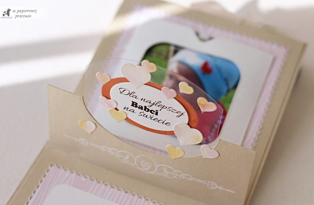 kartka dla babci - pop up gift card holder