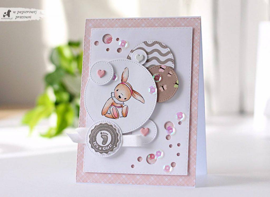 Kartka z okazji narodzin maleńkiej dziewczynki