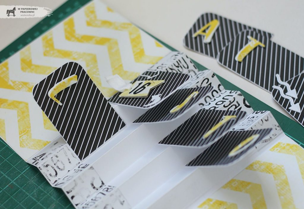 Kolejność wklejania elementów pop-up w kartce akordeonowej
