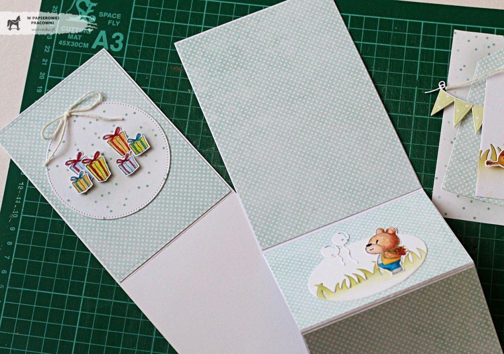 Etapy dekorowania kartki sztalugowej