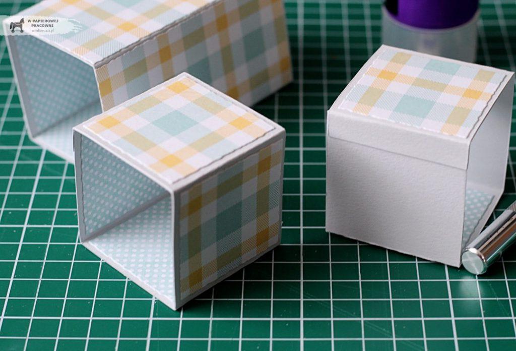 Kurs na kartkę Triple Pop Up Cube - sklejanie elementów bazy