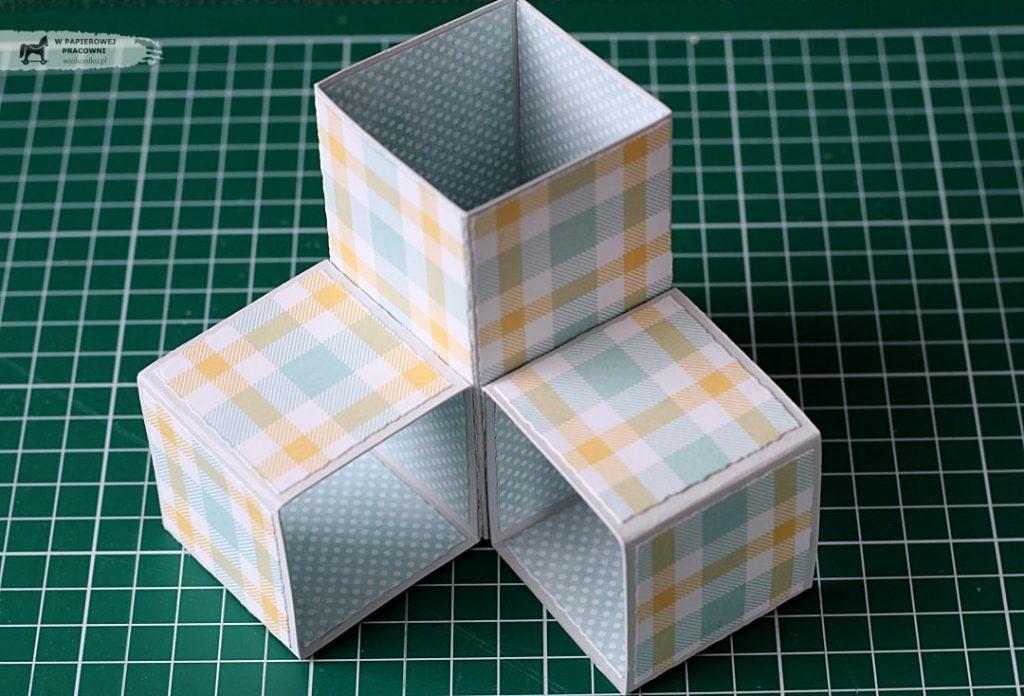Kurs na kartkę Triple Pop Up Cube - przygotowanie bazy