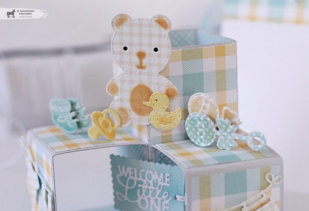 Kurs na kartkę Triple Pop Up Cube - elementy dekoracyjne