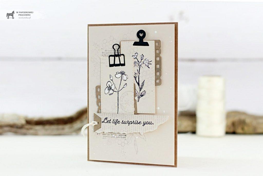 Nostalgiczna kartka okolicznościowa jak kartka z zielnika, na każdą okazję